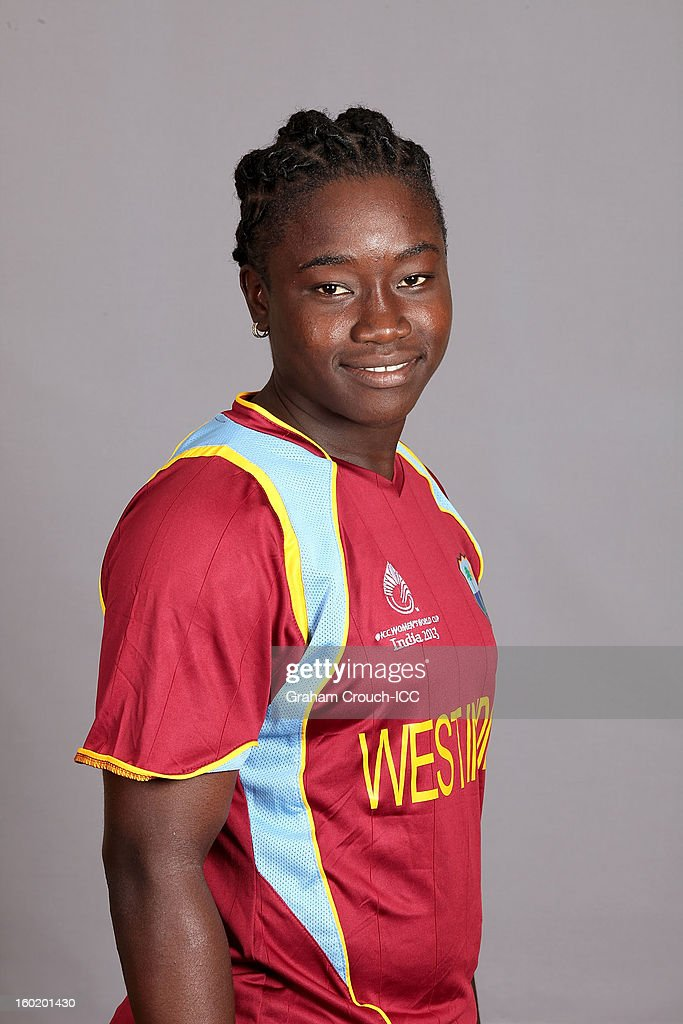 Deandra Dottin of West Indies poses at a portrait session ahead of the ICC Womens World Cup 2013 at the Taj Mahal Palace Hotel on January 27, 2013 in Mumbai, India.