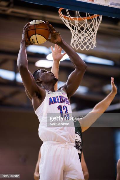Deandre Ayton of the Arizona Wildcats shoots during the Arizona In Espana Foreign Tour game between Mataro AllStars and Arizona on August 16 2017 in...