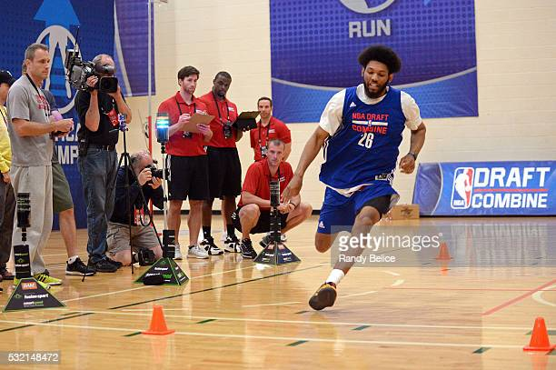 DeAndre Bembry completes the Shuttle Run skills test during the 2016 NBA Draft Combine on May 13 2016 at the Quest Multisport in Chicago Illinois...