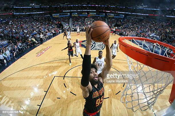 DeAndre Bembry of the Atlanta Hawks goes to the basket against the New Orleans Pelicans on January 5 2017 at the Smoothie King Center in New Orleans...