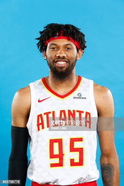 DeAndre' Bembry of the Atlanta Hawks poses for a head shot during Media Day on September 25 2017 at Four Season Hotel in Atlanta Georgia NOTE TO USER...
