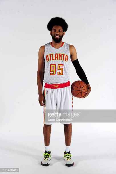 DeAndre' Bembry of the Atlanta Hawks poses for a portrait during the 20162017 Atlanta Hawks Media Day on September 26 2016 at The W Hotel in Atlanta...
