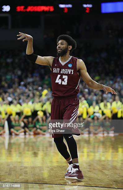 DeAndre Bembry of the Saint Joseph's Hawks is seen in the second half against the Oregon Ducks during the second round of the 2016 NCAA Men's...