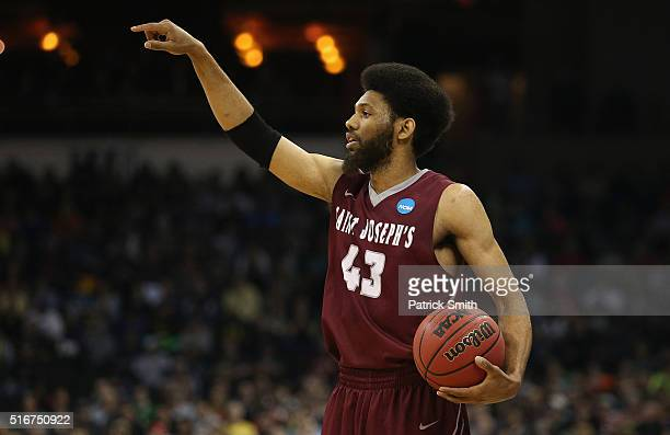 DeAndre Bembry of the Saint Joseph's Hawks reacts in the first half against the Oregon Ducks during the second round of the 2016 NCAA Men's...