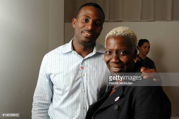 Deandre Devane and Olivia Smashum attend HOUSING WORKS DESIGN ON A DIME opening night reception at Metropolitan Pavillion on May 6 2010 in New York...