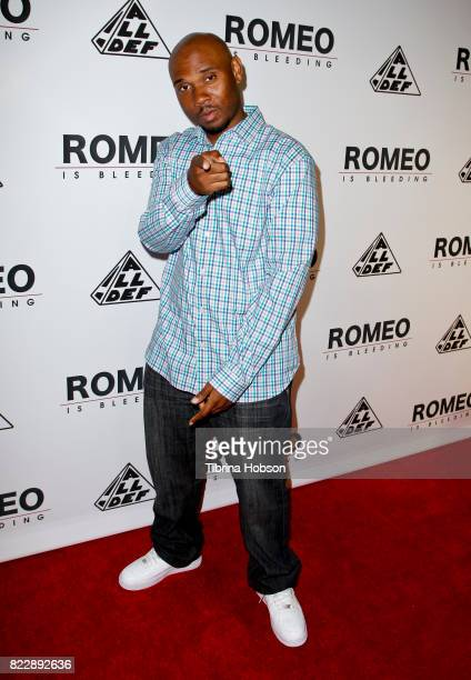 DeAndre Evans attends the premiere of 'Romeo Is Bleeding' at The Montalban Theater on July 25 2017 in Los Angeles California