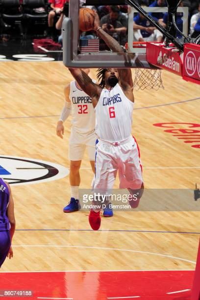 DeAndre Jordan of the LA Clippers goes to the basket against the Sacramento Kings on October 12 2017 at STAPLES Center in Los Angeles California NOTE...