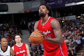 DeAndre Jordan of the Los Angeles Clippers attempts a free throw shot against the Sacramento Kings on March 18 2015 at Sleep Train Arena in...
