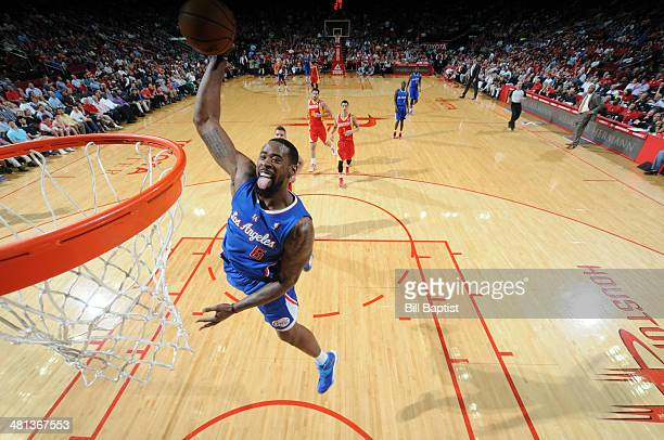 DeAndre Jordan of the Los Angeles Clippers dunks against the Houston Rockets on March 29 2014 at the Toyota Center in Houston Texas NOTE TO USER User...