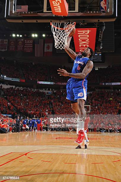 DeAndre Jordan of the Los Angeles Clippers dunks the ball in Game Seven of the Western Conference Semifinals against the Houston Rockets during the...