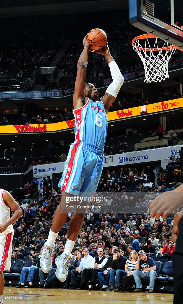 DeAndre Jordan #6 of the Los Angeles Clippers goes to the basket during the game between the Los Angeles Clippers and the Charlotte Bobcats on February 11, 2012 at Philips Arena in Atlanta, Georgia.