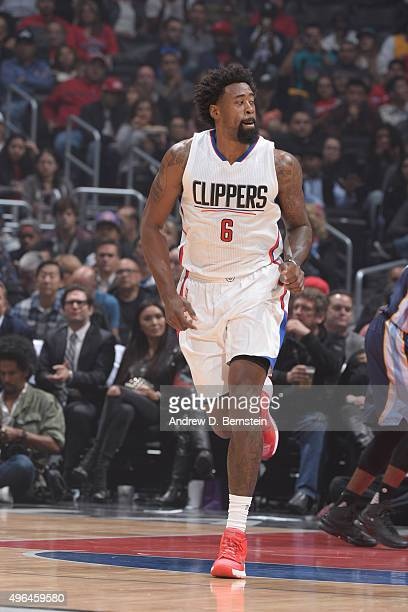 DeAndre Jordan of the Los Angeles Clippers is seen against the Memphis Grizzlies during the game on November 9 2015 at STAPLES Center in Los Angeles...