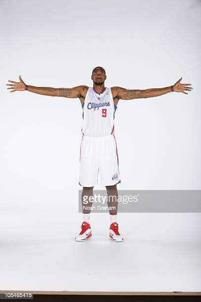 DeAndre Jordan of the Los Angeles Clippers poses for a picture during media day at the Clippers Training Center on September 27 2010 in Playa Vista...