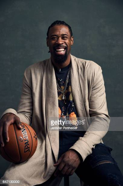 DeAndre Jordan of the Los Angeles Clippers poses for portraits during the NBAE Circuit as part of 2017 AllStar Weekend at the RitzCarlton Hotel on...