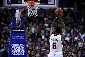 DeAndre Jordan of the Los Angeles Clippers shoots a free throw during the game against the New Orleans Pelicans at Staples Center on December 18 2013...