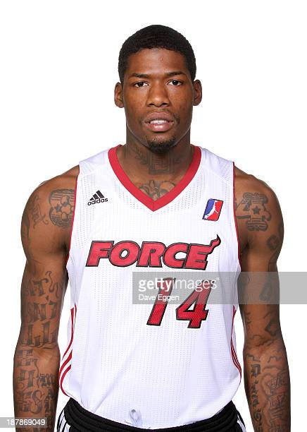 DeAndre Liggins of the Sioux Falls Skyforce of the NBA DLeague poses for media day November 12 2013 at the Sanford Pentagon in Sioux Falls South...