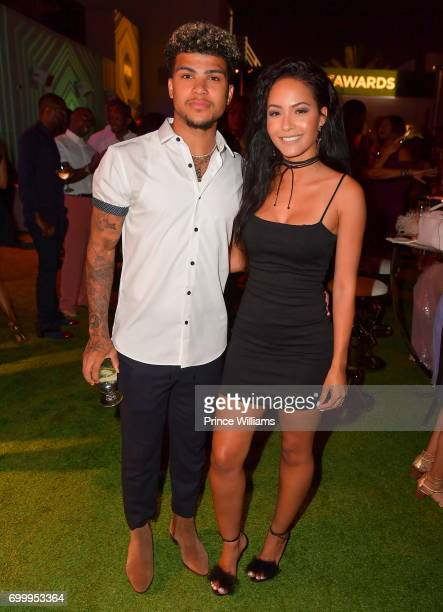 DeAndre Yedlin and Tristin Mays attend Debra Lee Pre BET Awards Dinner at The London West Hollywood on June 21 2017 in West Hollywood California