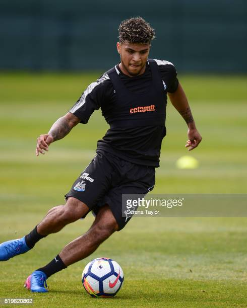 DeAndre Yedlin controls the ball during the Newcastle United Training session at Carton House on July 20 in Maynooth Ireland