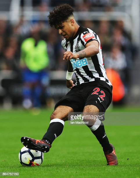 DeAndre Yedlin of Newcastle United controls the ball during the Premier League match between Newcastle United and Crystal Palace at St James Park on...