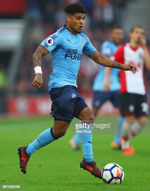 Deandre Yedlin of Newcastle United in action during the Premier League match between Southampton and Newcastle United at St Mary's Stadium on October...
