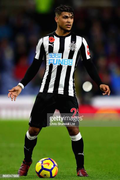 DeAndre Yedlin of Newcastle United in action during the Premier League match between Burnley and Newcastle United at Turf Moor on October 30 2017 in...