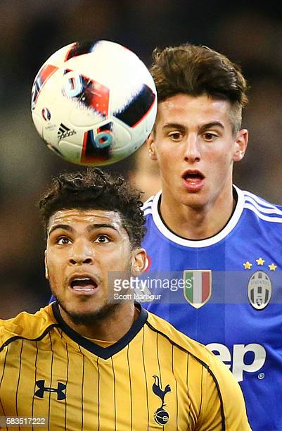 DeAndre Yedlin of Tottenham Hotspur competes for the ball during the 2016 International Champions Cup match between Juventus FC and Tottenham Hotspur...