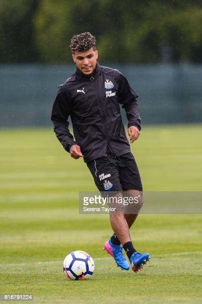 DeAndre Yedlin passes the ball during the Newcastle United Training session at Carton House on July 19 in Maynooth Ireland