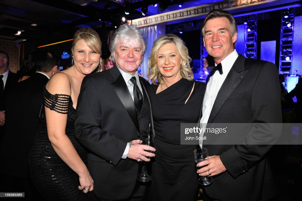 Deanna Bracey, musician Russell Hitchcock, presenter Olivia Newton-John and John Easterling attend the 2013 G'Day USA Los Angeles Black Tie Gala at JW Marriott Los Angeles at L.A. LIVE on January 12, 2013 in Los Angeles, California.