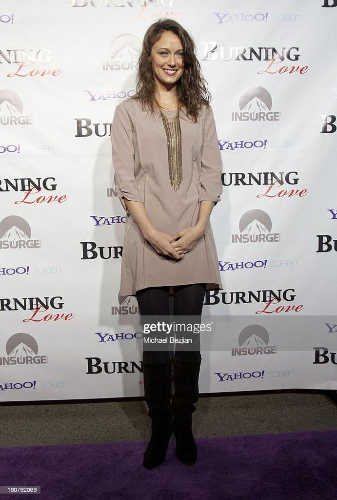 Deanna Russo attends the 'Burning Love' season 2 premiere at Paramount Theater on the Paramount Studios lot on February 5, 2013 in Hollywood, California.
