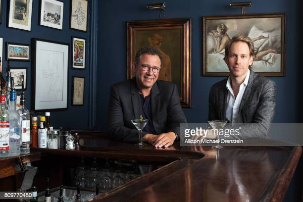 'Dear Evan Hansen' director Michael Greif and set designer David Korins are photographed for Town Country Magazine on September 7 2016 in New York...