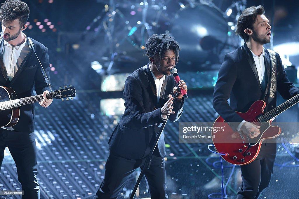 Dear Jack attend the fourth night of the 66th Festival di Sanremo 2016 at Teatro Ariston on February 12, 2016 in Sanremo, Italy.