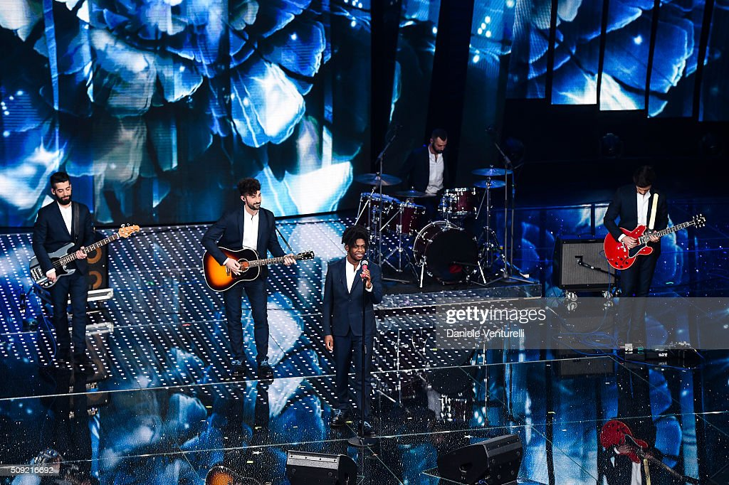 Dear Jack attend the opening night of the 66th Festival di Sanremo 2016 at Teatro Ariston on February 9, 2016 in Sanremo, Italy.