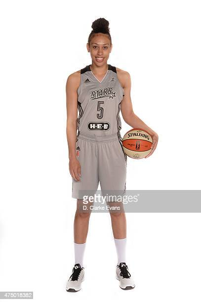 Dearica Hamby of the San Antonio Stars poses for a portrait during Media Day at the Freeman Coliseum on May 26 2015 in San Antonio Texas NOTE TO USER...