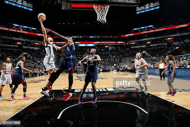 Dearica Hamby of the San Antonio Stars shoots against the Atlanta Dream during the game on May 14 2016 at ATT Center in San Antonio Texas NOTE TO...