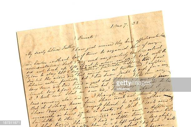 Dearly beloved father - part of a 19th century letter