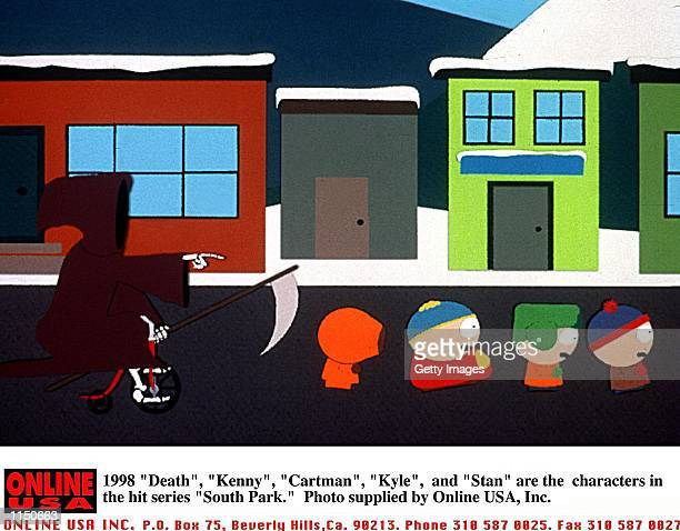 1998 'Death' 'Kenny' 'Cartman' 'Kyle' and 'Stan' are the characters in the hit series 'South Park'