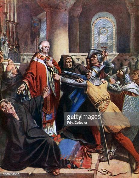'Death of Becket' Thomas a Becket Archbishop of Canterbury was murdered by knights in Canterbury Cathedral on 29 December 1170