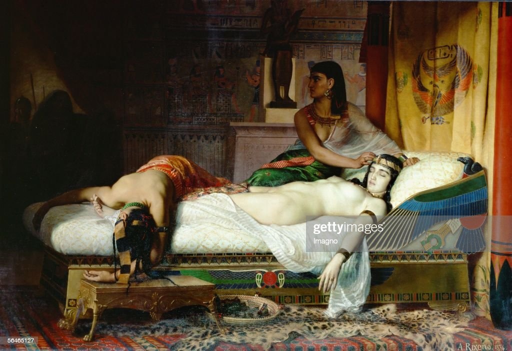 Death of Cleopatra. Canvas. Jean Angre Rixen. 19th Century. (Photo by Imagno/Getty Images) [Tod der Kleopatra. Gemaelde von Jean Andre Rixen. 19 Jahrhundert.]
