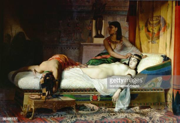 Death of Cleopatra Canvas Jean Angre Rixen 19th Century [Tod der Kleopatra Gemaelde von Jean Andre Rixen 19 Jahrhundert]
