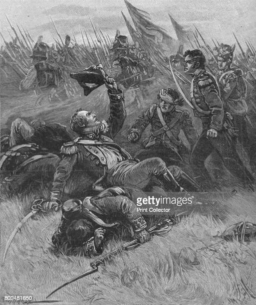 Death of Colonel Donellan' c1896 At the Battle of Talavera Spain 2728 July 1809 the British and Spanish army commanded by Wellington won an...