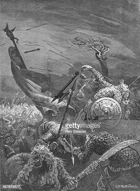 Death of King Harold at the Battle of Hastings 1066 From Cassell's Illustrated History of England Vol I [Cassell and Company Limited London Paris New...