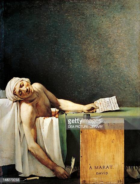 Death of Marat by JacquesLouis David oil on canvas 165x125 cm Brussels Musées Royaux Des BeauxArts De Belgique