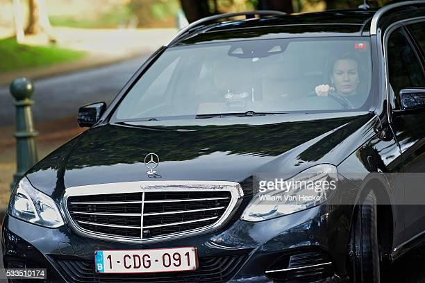 Death of Queen Fabiola Décès de la Reine Fabiola de Belgique ambiances à sa résidence du Château de Stuyvenberg Dood van Koningin Fabiola van België...