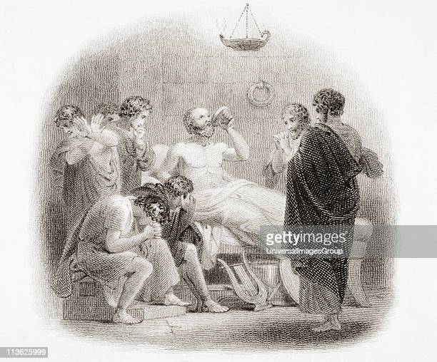 Death of Socrates 469 399 BC Engraved by F Finden after H Corbould from the book A History of Greece by Connop Thirlwall Bishop of St Davids