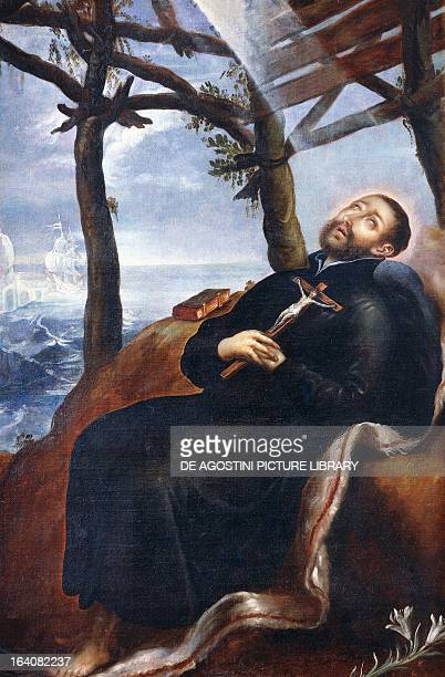 Death of St Francis Xavier painted by an unknown 16th century artist Mexico City Museo Nacional De Arte