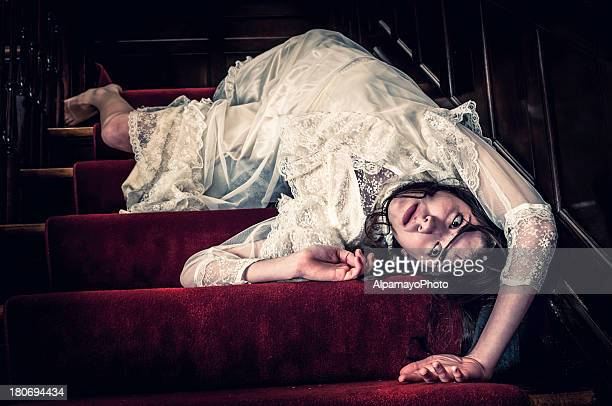 Death of young woman on the stairs - I