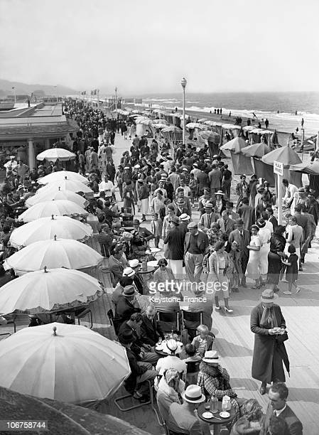 Deauville Beach In 1937
