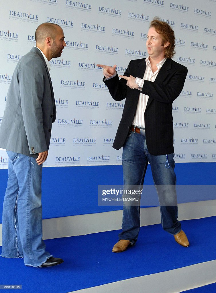 US director Marcos Siega (L) and US producer Carl Levin pose during a photocall for 'Pretty Persuasion' shown in competition at the 31st Deauville American Film Festival, 08 september 2005. AFP PHOTO MYCHELE DANIAU
