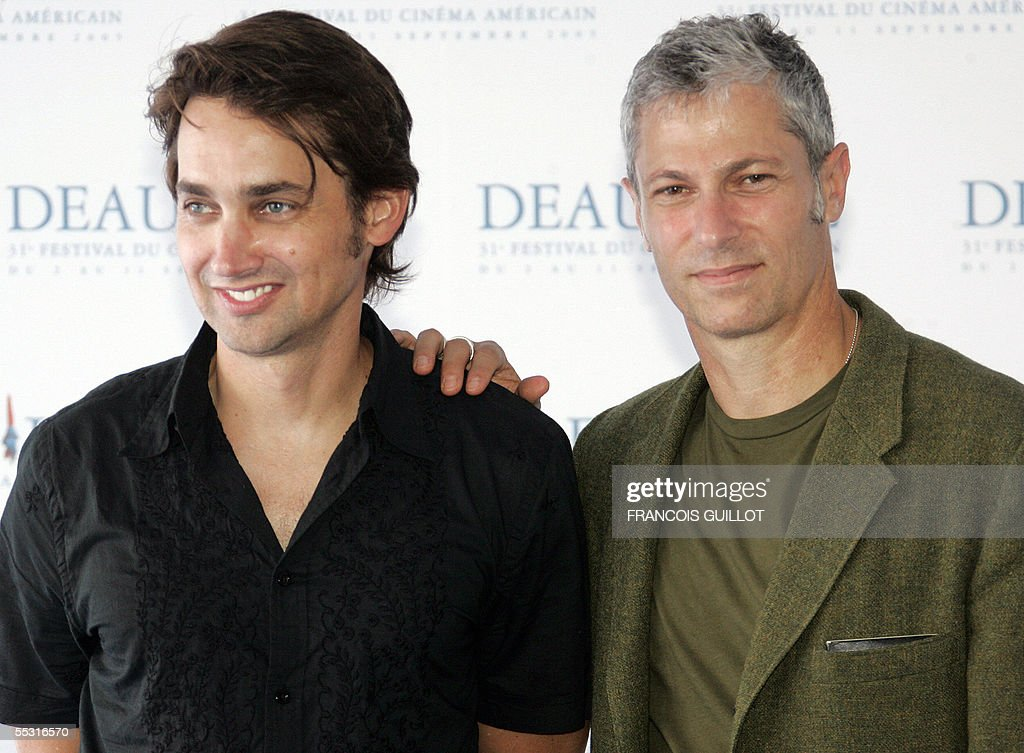 US directors Scott Mc Gehee (L) and David Siegel pose during a photocall at the Deauville international Centre prior to the screening of 'Pretty persuasion' screened during the 31st Deauville American film festival, 08 September 2005.