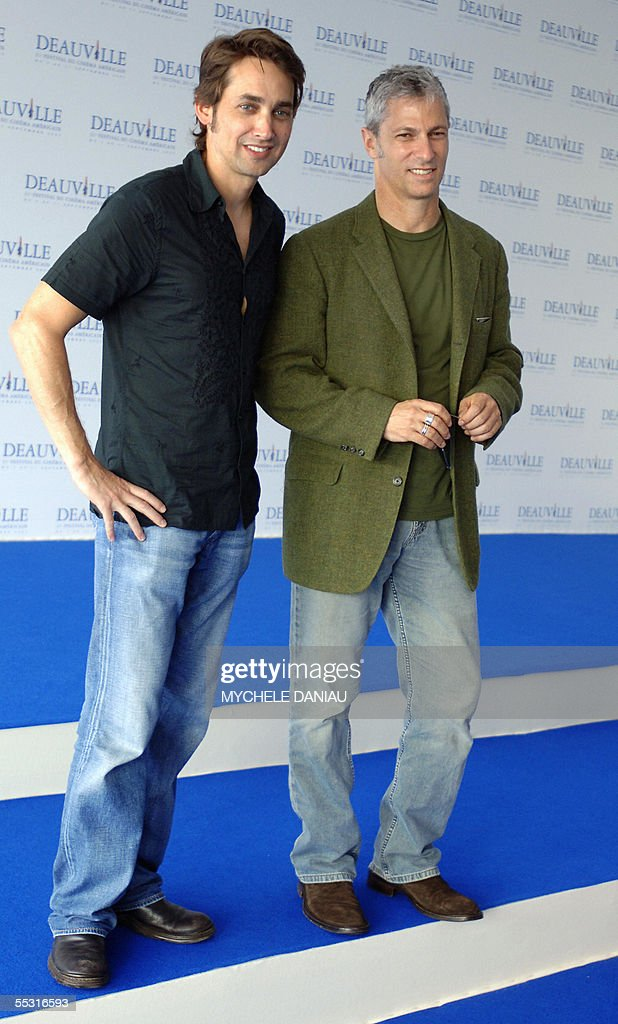 US directors Scott Mc Gehee (L) and David Siegel pose during a photocall at the Deauville international Centre prior to the screening of their film 'Pretty persuasion' during the 31st Deauville American film festival, 08 September 2005.